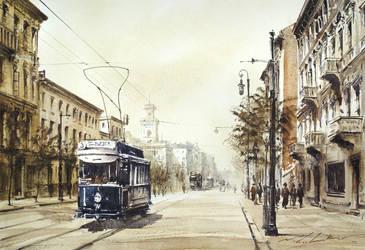 Old tram by stefanzhuty