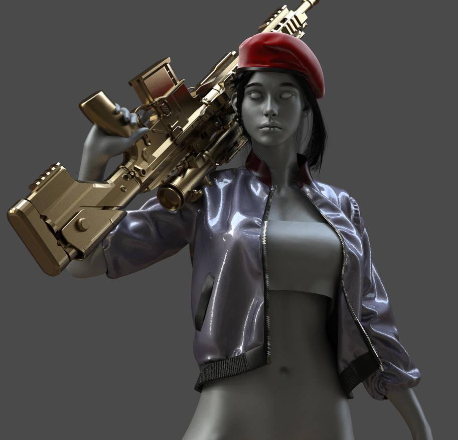 Sharpshooter girl by Stranger1988
