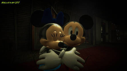 Mickey and Minnie at the Haunted Mansion by Micktrap397