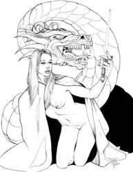 Elle's Spell - INKS by DocRedfield
