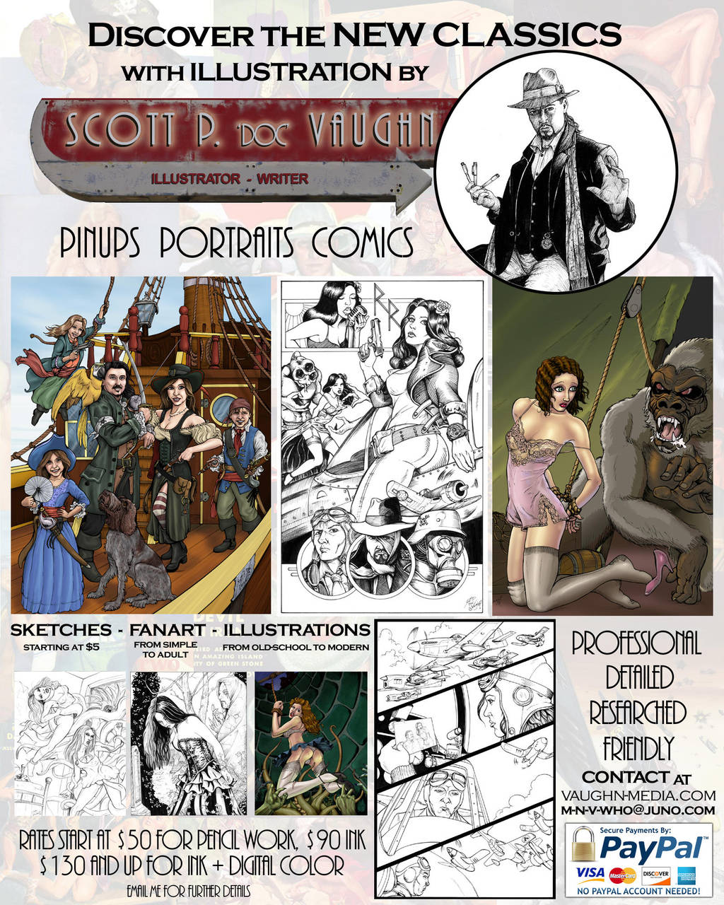 COMMISSIONS RATES - Pulp style by DOC by DocRedfield