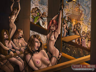 COMMISSION - Pirate Slave Galley by DocRedfield
