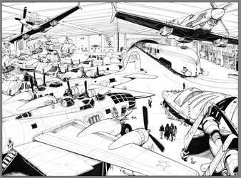 WARBIRDS OF MARS Golden Age pg2-3 Inks by DocRedfield