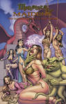 Monsters and Maidens ART BOOK Cover by DocRedfield