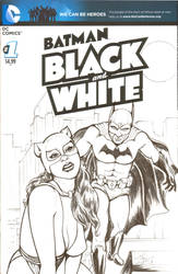 BATMAN Black and White #1 Sketch Cover by DocRedfield