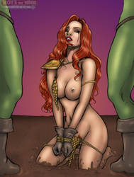 Red Sonja Bound - Color by DocRedfield