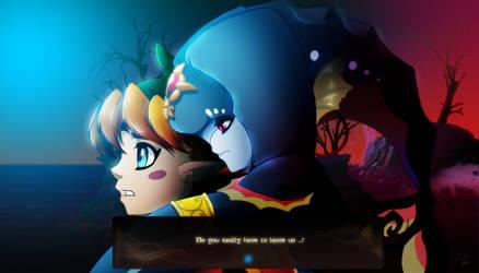 Mido and Kelpie by Dormin-Kanna