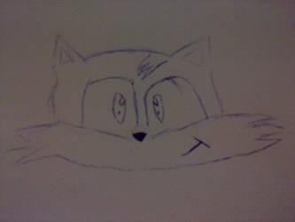 Tails head line art by Fastlegs