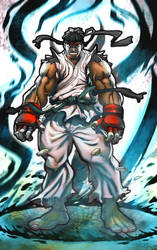 RYU street fighter by TeoGonzalezColors
