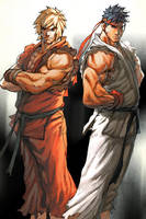 ryu and ken by TeoGonzalezColors