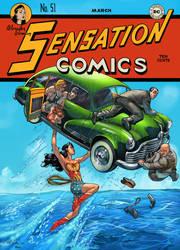 sensation comics 51 coveREMAKE by TeoGonzalezColors