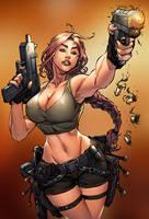 Tomb Raider strikes by TeoGonzalezColors