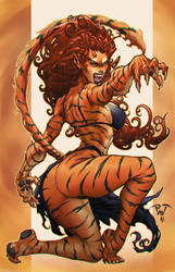 Tigra by Paolo Pantalena by TeoGonzalezColors