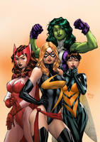Marvel Girls by TeoGonzalezColors