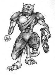 Kilrathi Warrior by spoofe