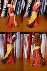 Pink Dancer Figurine- 4 views by MidnightPhoenixx