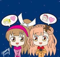 Yuri Gossip *Oichi + Lilysse* SWxNights of Azure by gaming123456