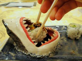 Shark Sushi Plate by aviceramics