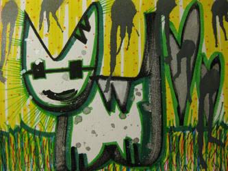 Green Grass Kitten by tishas