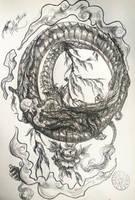 Ouroboros by BadlyDrawnDragons