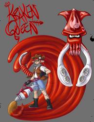 The Kraken Queen (Gift Art) by GalenaLarkin