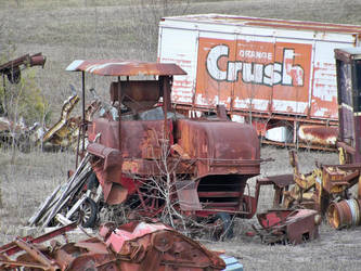 Rusted Harvester and Crush by specialoftheweek