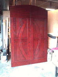 Beautiful Red Oak Doors by specialoftheweek