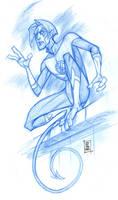 SDCC '08 Nightcrawler sketch by hyperjack08