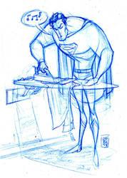 Superman ironing by hyperjack08