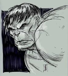 Hulk head sketch by hyperjack08