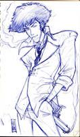 cowboy bebop sketch by hyperjack08
