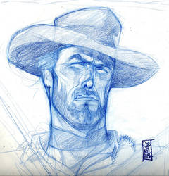Clint sketch by hyperjack08