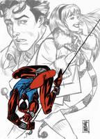 Scarlet Spider Sketch by hyperjack08