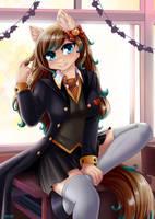 Student of the magic academy by LifeJoyArt
