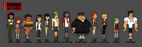 TDBW - Characters Line-Up by gus-val
