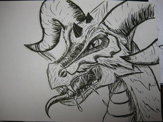 Ink dragon by Hieiko