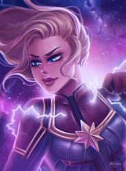 Captain Marvel by CharlieRobin