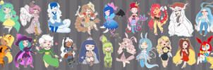 [ Z ] : Avalanche de Chibis ~ by Monalushii
