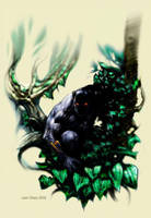 Black Panther cover by LiamSharp