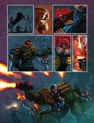 Another Judge Dredd page. by LiamSharp