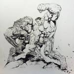 #Hulk vs. The Abomination by LiamSharp