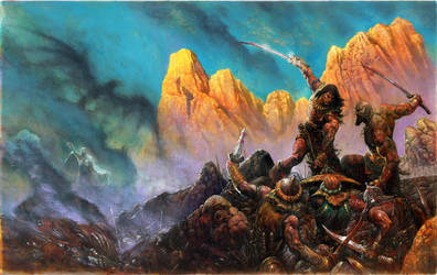 Conan Black Colossus RPG game cover by LiamSharp