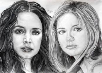 Buffy and Faith The Vampire Slayers by Anita-Sanderson