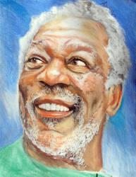 Morgan Freeman by Anita-Sanderson