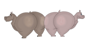 Big Hippo Butts by Boman100