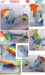My Little Cuddle: Rainbow Dash by BlackWater627