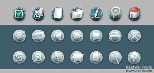 Icons, web buttons by Dremin