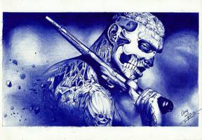 Zombie Boy Ballpoint Pen by FaceItDrawing