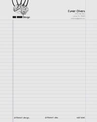 Odd Label Design - Letterhead by lifeinedit