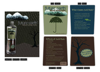 Future Earth - bottle label by lifeinedit
